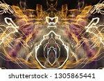 abstract symmetrical... | Shutterstock . vector #1305865441