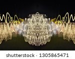 abstract symmetrical... | Shutterstock . vector #1305865471