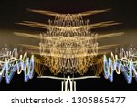 abstract symmetrical... | Shutterstock . vector #1305865477