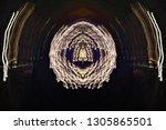 abstract symmetrical... | Shutterstock . vector #1305865501