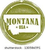 Vintage Montana USA State Stamp - stock vector