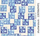 seamless pattern made up of...   Shutterstock .eps vector #1305869491