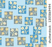 seamless pattern made up of...   Shutterstock .eps vector #1305869494