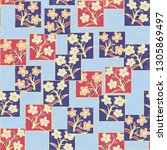 seamless pattern made up of...   Shutterstock .eps vector #1305869497