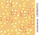 seamless pattern made up of...   Shutterstock .eps vector #1305869521