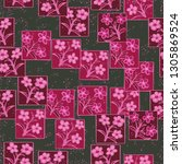 seamless pattern made up of...   Shutterstock .eps vector #1305869524