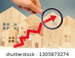 the concept of real estate...   Shutterstock . vector #1305873274
