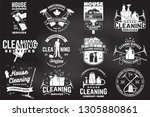 set of cleaning company... | Shutterstock .eps vector #1305880861