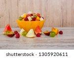 Fruit Salad. Peach  Watermelon  ...