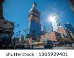 new york ny usa march 31  2018... | Shutterstock . vector #1305929401