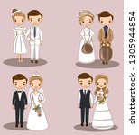 cute couple character... | Shutterstock .eps vector #1305944854