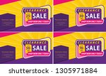 poster and banner template sale ... | Shutterstock .eps vector #1305971884