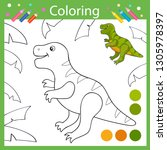 coloring book pages. activity... | Shutterstock .eps vector #1305978397