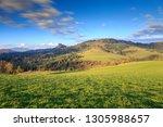 pieniny mountains at evening  ...   Shutterstock . vector #1305988657