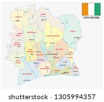 ivory coast administrative and... | Shutterstock .eps vector #1305994357
