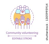 welfare volunteering concept... | Shutterstock .eps vector #1305995914