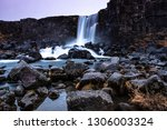 slow and smooth waterfall | Shutterstock . vector #1306003324