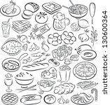 vector illustration of food... | Shutterstock .eps vector #130600364