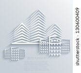 vector real estate icon... | Shutterstock .eps vector #130600409