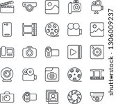 thin line icon set   camera... | Shutterstock .eps vector #1306009237