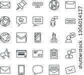 thin line icon set   speaking... | Shutterstock .eps vector #1306014127