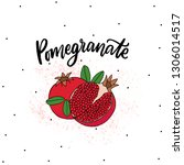 pomegranate fruit illustration... | Shutterstock .eps vector #1306014517