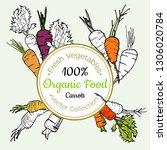 carrot vegetable groceries... | Shutterstock .eps vector #1306020784