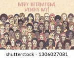 banner for international women... | Shutterstock .eps vector #1306027081