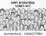 banner for international women... | Shutterstock .eps vector #1306027084