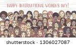banner for international women... | Shutterstock .eps vector #1306027087
