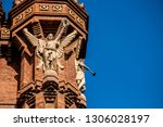 detail of the sculptures of the ... | Shutterstock . vector #1306028197