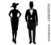 gentleman and lady icon... | Shutterstock .eps vector #1306030534