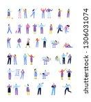 flat people big vector set .... | Shutterstock .eps vector #1306031074