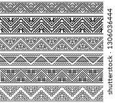 set tribal geometric ethnic... | Shutterstock .eps vector #1306036444