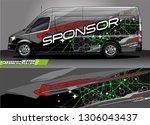 car graphic background vector.... | Shutterstock .eps vector #1306043437