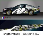 race car graphic background... | Shutterstock .eps vector #1306046467