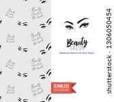 beauty salon flyer promo card.... | Shutterstock .eps vector #1306050454