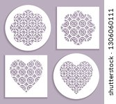 templates for laser cutting ... | Shutterstock .eps vector #1306060111