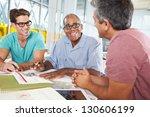 group of men meeting in... | Shutterstock . vector #130606199