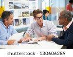 group of men meeting in... | Shutterstock . vector #130606289