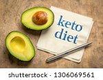 keto diet   handwiring on... | Shutterstock . vector #1306069561