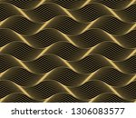 the geometric pattern with wavy ... | Shutterstock . vector #1306083577