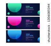creative abstract web banner... | Shutterstock .eps vector #1306085344