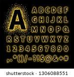 uppercase regular display font... | Shutterstock .eps vector #1306088551