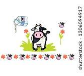Cute Cow Milk Cartoon Vector...