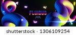 fluid colorful gradient... | Shutterstock .eps vector #1306109254