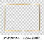 gold shiny glowing vintage... | Shutterstock .eps vector #1306118884