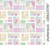 seamless vector pattern.... | Shutterstock .eps vector #1306125787