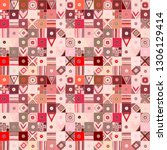 seamless vector pattern.... | Shutterstock .eps vector #1306129414
