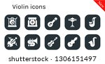 violin icon set. 10 filled... | Shutterstock .eps vector #1306151497